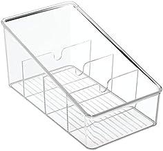 iDesign 77650 Linus Keuken Organizer Bin Voor Voedselopslag, Kruiding/Dressing Zakken - Clear