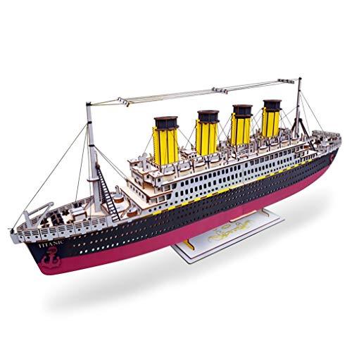 GuDoQi 3D Holz Puzzle, Modell RMS Titanic, Holzbausatz Schiffe zum Bauen, DIY Montage Holzpuzzle Spielzeug, Bastelset, Geburtstags Geschenk aus Holz fur Erwachsene Männer Jugendliche