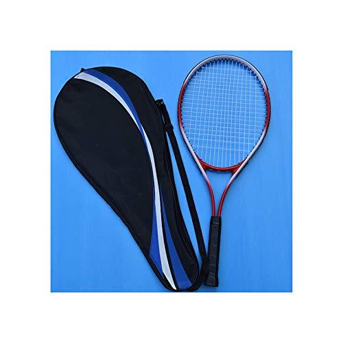 HLONGG Raqueta De Tenis Profesional, Práctica para Principiantes, Unisex, Estudiante, Raqueta De Tenis para Adultos (Sola),Rojo