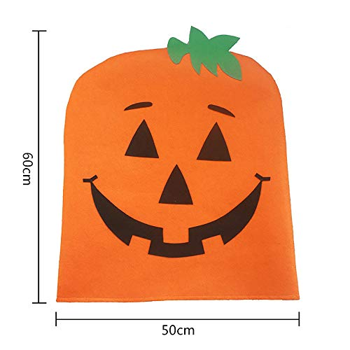 Kecar Halloween Seater Back Pumpkin Chair Cover Room Decoration Protector Dining Chair, for Halloween Decoration (Orange)