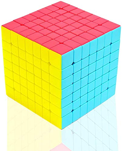 TOYESS Cubo de Velocidad 7x7 Stickerless, Cubo Mágico 7x7x7 Speed Cube, Rompecabezas Puzzle Juguetes para Adulto & Niños