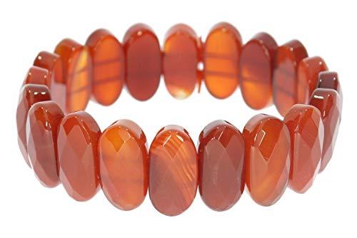Karneol Pulsera elástica de piedras preciosas, 20 x 10 mm, SAB536