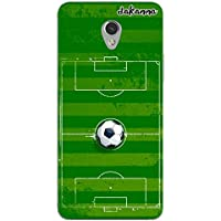 dakanna Funda Compatible con [ZTE Blade V7] de Silicona Flexible, Dibujo Diseño [Campo y balón de fútbol], Color [Borde Transparente] Carcasa Case Cover de Gel TPU para Smartphone