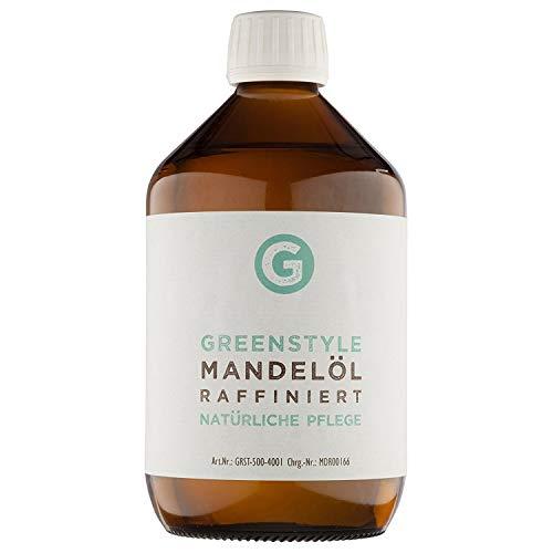 Huile d'amande douce (1000 ml) – Huile de base pure pour le soin de la peau et des cheveux – tout naturellement dans une bouteille en verre