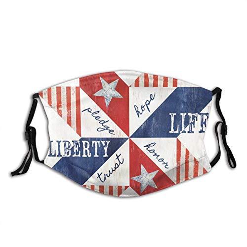 YGZger USA Flag America Triángulos Rojo Blanco Azul Estrellas Rayas Estados Libertad Nacional Julio Patriotismo Polvo al aire libre para adultos y niños