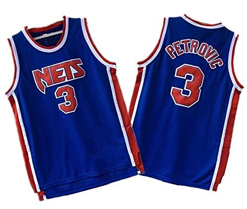 YXST Camiseta De Baloncesto NBA Redes # 3 Malla Bordada De PoliéSter Top,Secado RáPido Y Transpirable RéPlica De Jugador De Baloncesto,M