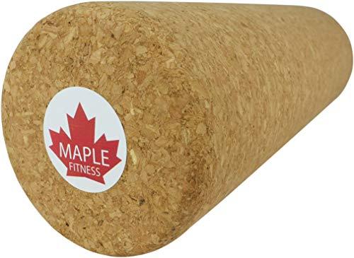 Maple Fitness Faszienrolle aus ökologisch-nachhaltigem Kork/Massagerolle für Dein Faszientraining/Fitnessrolle für Yoga und Pilates