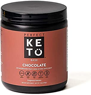 Perfect Keto Exogenous Ketones: Base BHB Salts Supplement for Ketogenic Diet Best to Support Weight Management & Energy, Focus and Ketosis Beta-Hydroxybutyrate BHB Salt (New Chocolate Formula)