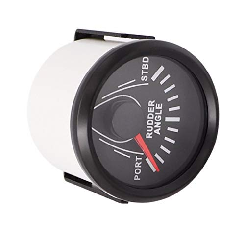 """ELING Waterproof Rudder Angle Indicator Gauge Meter 0-190ohm with Mating Sensor 2""""(52mm) with Backlight"""