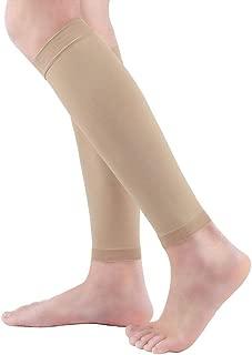 Premium Footless Compression Socks Women Men 2 Pairs (20-30mmHg) Calf Support & Pain Relief, Calf Compression Sleeve for Varicose Veins, Shin Splint, Swelling, Edema, Baseball, Nurses, Maternity