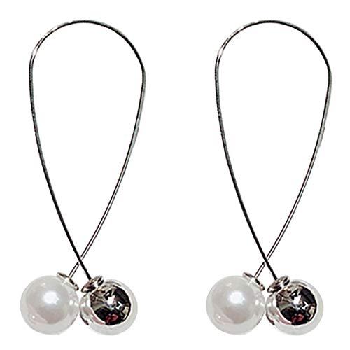 TOOGOO Sencillo Pendientes De Perlas Cruz Imitacion Joyeria Exquisita Pendientes Largos Para Mujer Oro