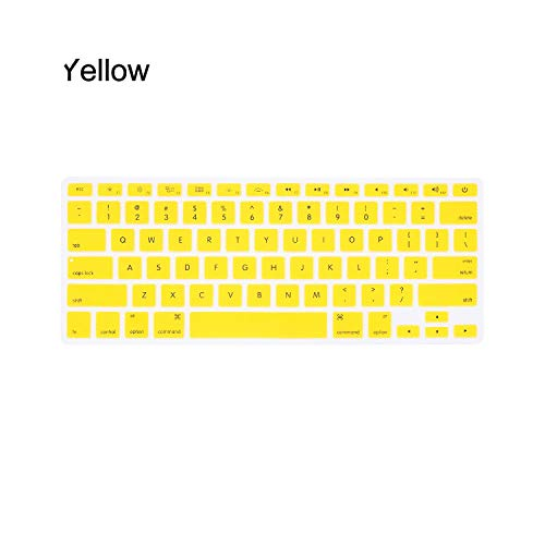 10 Colors Soft Silicone Keyboard Cover Sticker Film For Macbook Pro Air 13' 15' 17' (2015 or older) Computer Accessories-yellow-