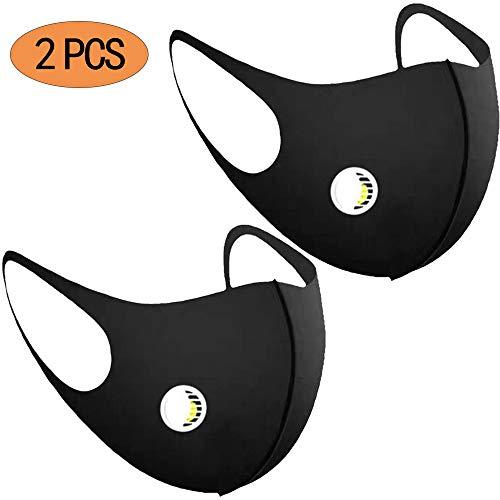AECOR 2 Paquetes Negro A Prueba De Polvo Máscara Elástico Riding Máscara Mascarillas para El Exterior De La Carpintería De Motociclismo Ciclismo Running Bicicletas
