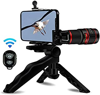 $20 Get Metermall 20X Phone Telephoto Lens Zoom Telephoto Lens Stronger Phone Tripod Wireless Remote Shutter Photo Holder for iPhone, Samsung, iPad and Most Smartphones