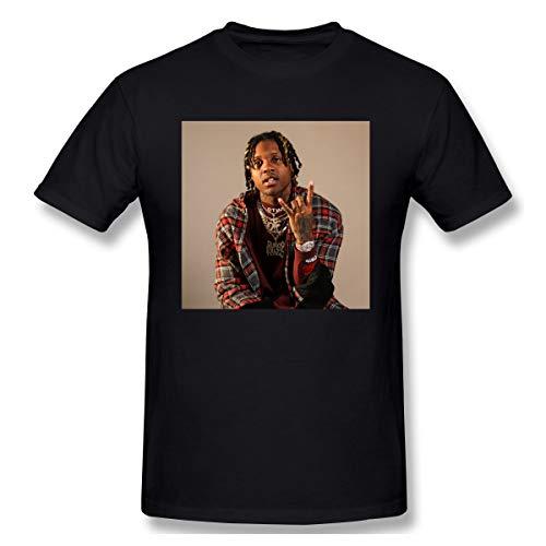FUSTBIL Lil Durk Shirt for Mens/Womens Classic Style Lil Durk Short Sleeve Black