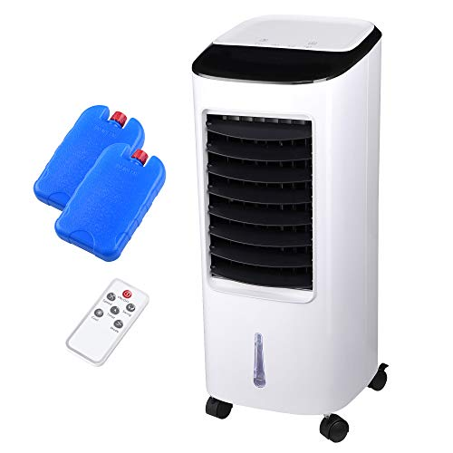 Yescom Evaporative Cooler,Portable Air Cooler Humidifier with Remote Control Ice Pack Energy Saving Indoor Outdoor 65W