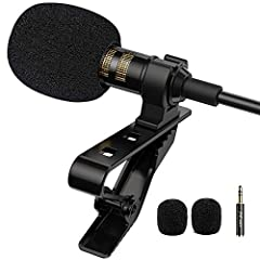 "✔ NEVER MISS IT: PoP voice Microphone will be your good choice! Cost-effective lapel microphone. Better than your built-in mic.Updated Features - By the ""lightning to 3.5mm"" adapter that come with your iphone,PoP voice mic will work on iPhone 7,7 plu..."