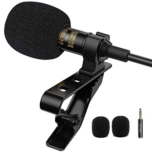 PoP voice Professional Lavalier Lapel Microphone Omnidirectional Condenser Mic...