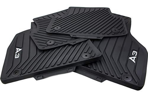 kfzpremiumteile24 Original Gummimatten Fußmatten Gummi schwarz 4-teilig Befestigungen rund vorn + hinten Druckknopf