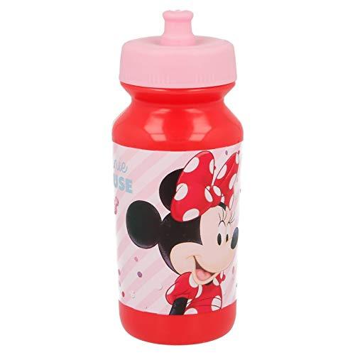 ALMACENESADAN 2039, Botella Sport Push-up Disney Minnie Mouse Electric Doll; Capacidad 340 ml; Producto de plástico; no BPA