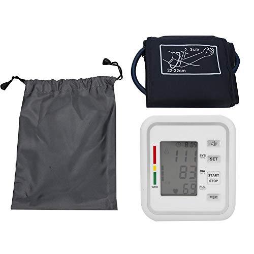 Oberarm Blutdruckmessgerät Oberarmblood Pressure monitor, Arrhythmie Erkennung & Pulsmessung & Speicherfunktion mit Manschettensitzkontrolle für zu Hause & unterwegs
