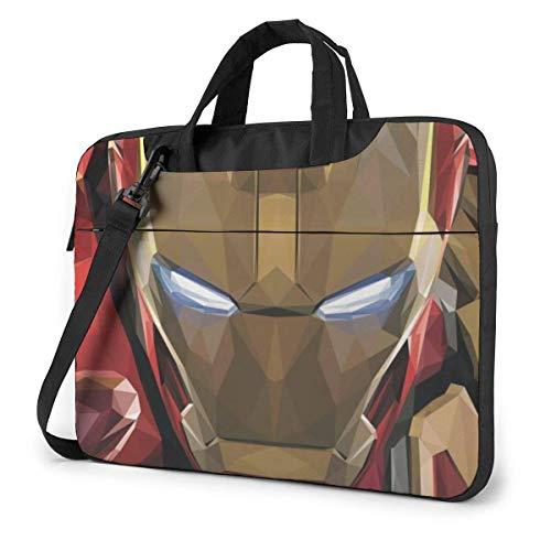 15.6 Inch Laptop Bag Iron Man Art Laptop Briefcase Shoulder Messenger Bag Case Sleeve
