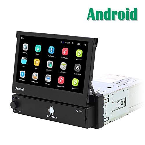 Android 1 DIN Radio de Coche GPS CAMECHO 7 Pulgadas hacia afuera Pantalla tactil capacitiva Bluetooth FM Radio WiFi Navegación Enlace Espejo para teléfono Android iOS
