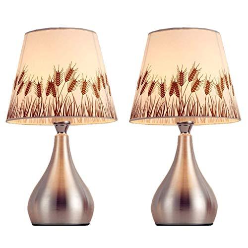 XIANWEI Nightstand Lamp Table Lamp Modern Table Lamp Romantic Warm Bedroom Bedside Lamp Set of 2 Modern Desk Lamp Simple Night Light