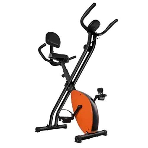 Yuany Bicicleta estacionaria para Trabajo Pesado Bicicleta magnética Vertical con Odo, Velocidad, Distancia, Monitor de calorías y escaneo, Soporte de 330 LB