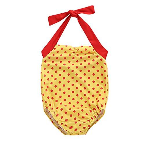 Gyratedream Meisjes Zwemkleding Eendelig Polka Dot Badpak 1-5 Jaar Kinderen Halter-Neck Badpakken Strandkleding