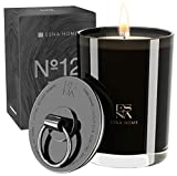 Luxury All Natural Soy Scented Candle, Black Candles for Home Scented,...