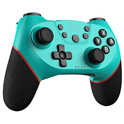 JAMSWALL Wireless Switch Pro Controller, Bluetooth Gamepad Joystick Remote for Switch Console(Green)