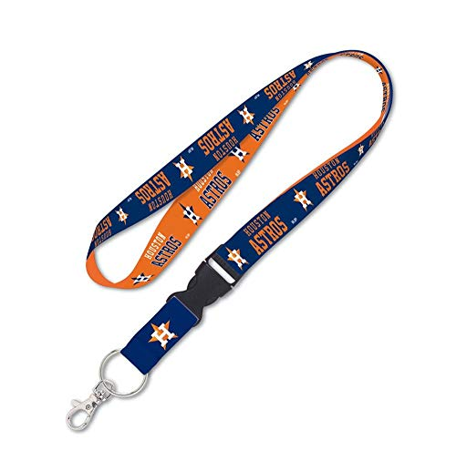 WinCraft MLB Houston Astros Lanyard with Detachable Buckle, 3/4