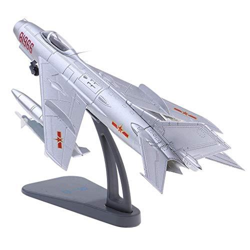 XHH Flugzeugmodell Chinese Plane Aircraft J-6 Farmer Modellständer aus Metall im Maßstab 1:72 (Flugzeugmodelldekoration Flugzeugmodell