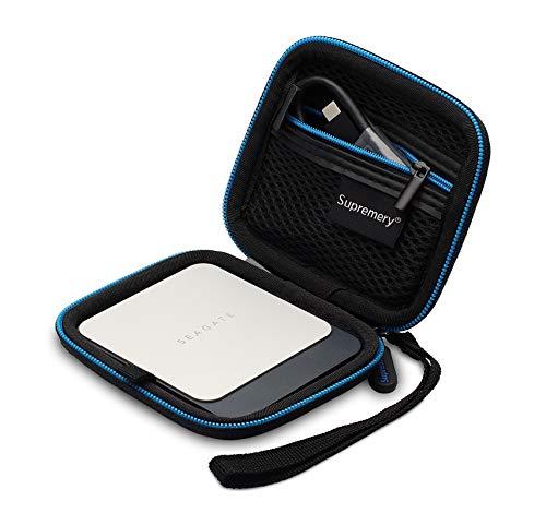 Supremery Tasche für Seagate Fast SSD - Seagate Barracuda Fast SSD - Seagate Game Drive Hülle Schutz-Hülle Tasche Festplattentasche Zubehör