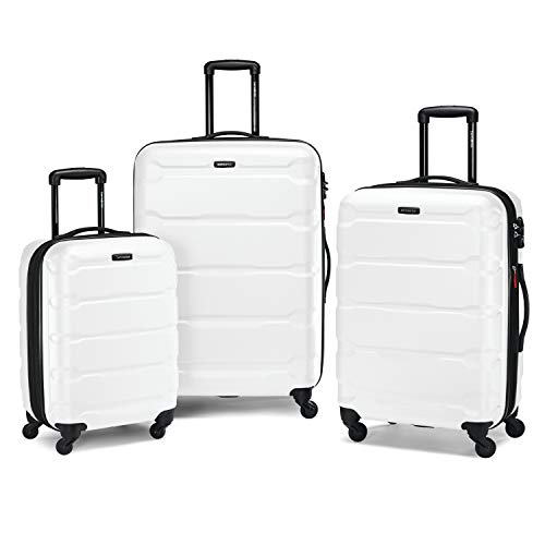 Samsonite Omni Expandable Hardside Luggage Set with Spinner Wheels, 3-Piece (20/24/28), White