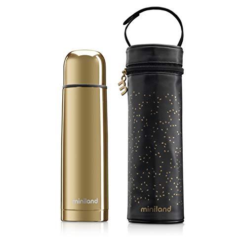 Isolierflasche 500ml Deluxe Gold mit Tragetasche