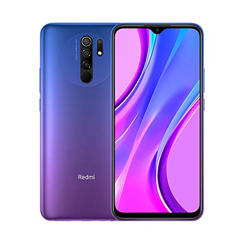 "Xiaomi Redmi 9 Smartphone, 3 GB + 32 GB, AI Quad Camera 6.53 ""Full HD + Display 5020 mAh (typ), Viola (Sunset Purple)"