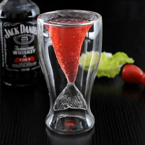 GENG Thermosflasche Mode Neuheit Double Layer-Nixe-Art-Trinkglas Cup, Kapazität: 100 ml