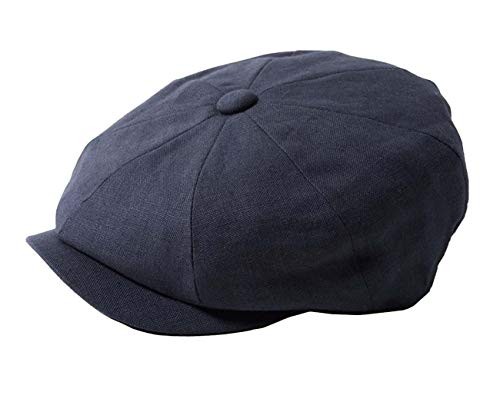 Failsworth Hats Alfie Newsboy Baker Boy - Gorra de lino (8 piezas), color azul marino