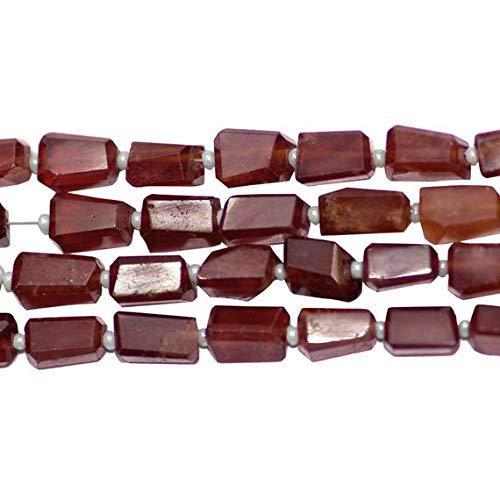 LOVEKUSH 50 % rabatt ädelsten smycken granat fasetterade bitar 10 mm till 12 mm, säljs som 14 tum per tråd Kod: RADE-38647
