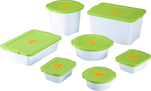Breere™ Bio-Frischhalteboxen Frischhaltedose, 7-er Set, grün, Aufbewahrungsdose, Vorratsdose