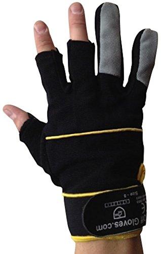 Fingerlose Handschuhe – Arbeiten, Elektriker, Bauherren, Installateure, DIY und Allgemeine Arbeitskleidung. (Medium EU 9) - 2