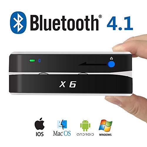 X6BT Bluetooth Mag VIP Card Reader Writer USB 3 Tracks Swipe Encoder
