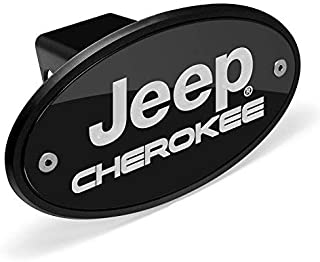 Jeep Cherokee Black Metal Plate 2 inch Tow Hitch Cover