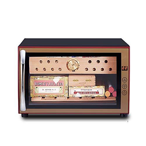 VIY Humidificador Puros, 70 W, Panel táctil, 38 dB, Madera de Cedro, 25 litros, 150 Puros, LED, Negro