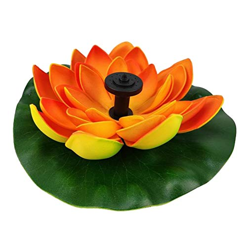 Onewell energía solar flotante artificial flor de loto fuente estanque decoraciones jardín paisaje, sin necesidad de batería