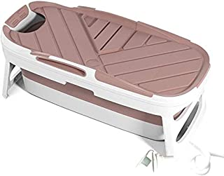 ポータブルバスタブ、折りたたみバスタブ、モバイルバスタブ大人140 Cmを、ロング絶縁タイムでカバーし、理想のために小さなバスルーム (色 : ピンク, Size : 1.23M)