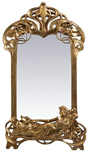 aubaho Spiegel Schminkspiegel Kosmetikspiegel Tischspiegel Jugendstil Antik-Stil 50cm a