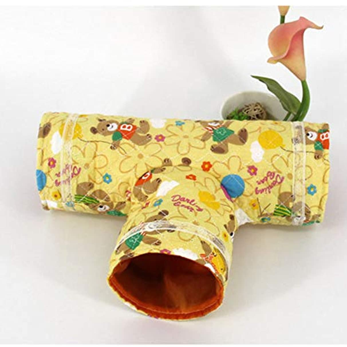 Tubes & Tunnels - Summer Small Pet Tunnel Hamster Guinea Pig Rabbit Tubes Three Channels Playing Toys Cages - Tubes Books Tunnels Tubes Tunnels Plush Rabbit Tunnel House Guinea Hamster Pet